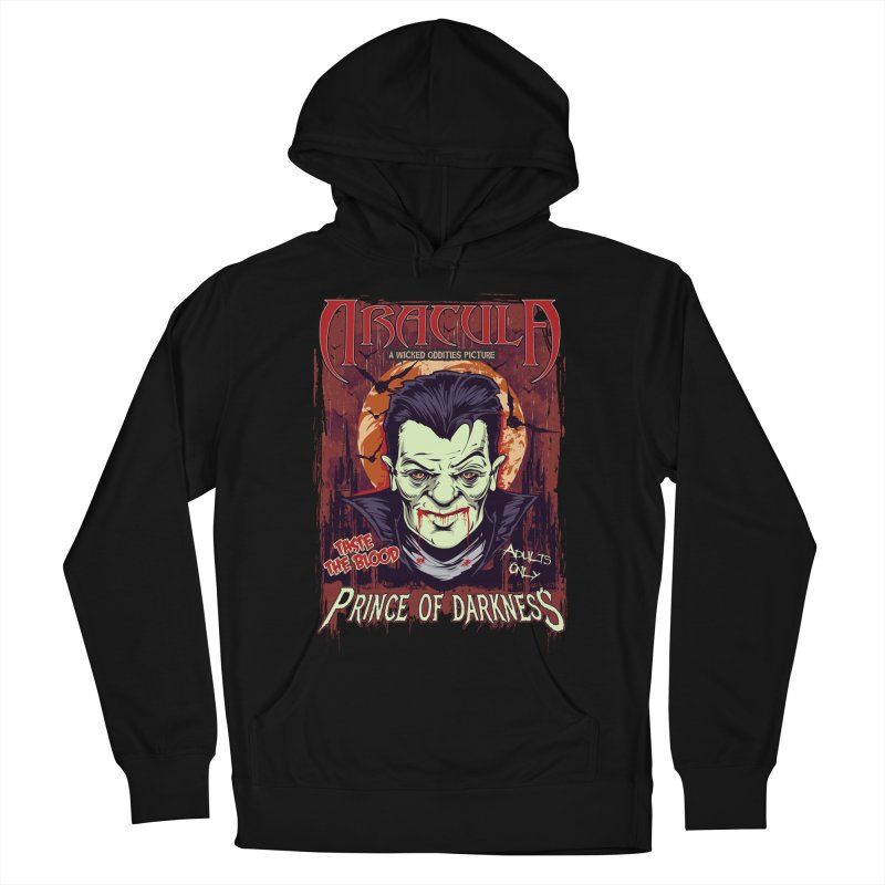 Prince Of Darkness Men's French Terry Pullover Hoody by Wicked Oddities