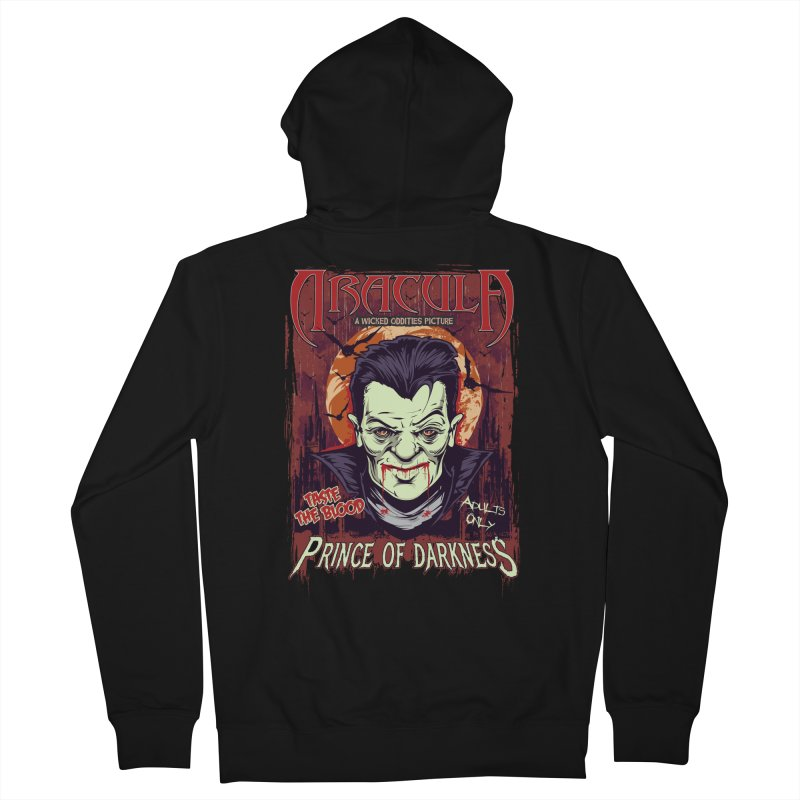 Prince Of Darkness Men's French Terry Zip-Up Hoody by Wicked Oddities