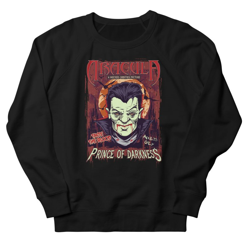Prince Of Darkness Men's French Terry Sweatshirt by Wicked Oddities