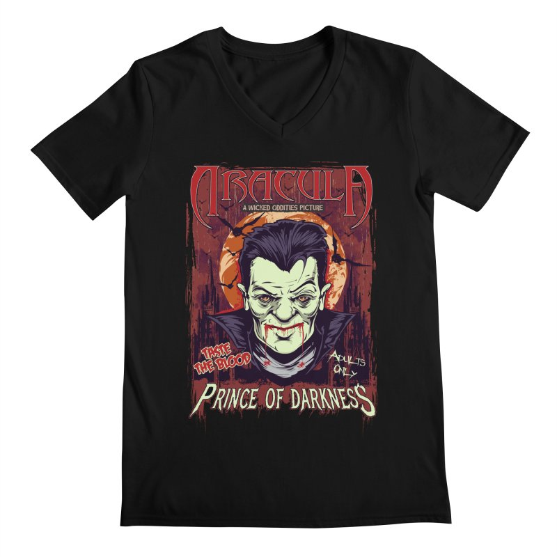 Prince Of Darkness Men's Regular V-Neck by Wicked Oddities