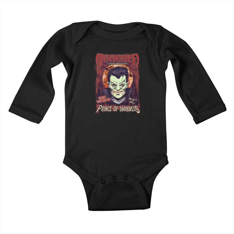 Prince Of Darkness Kids Baby Longsleeve Bodysuit by Wicked Oddities