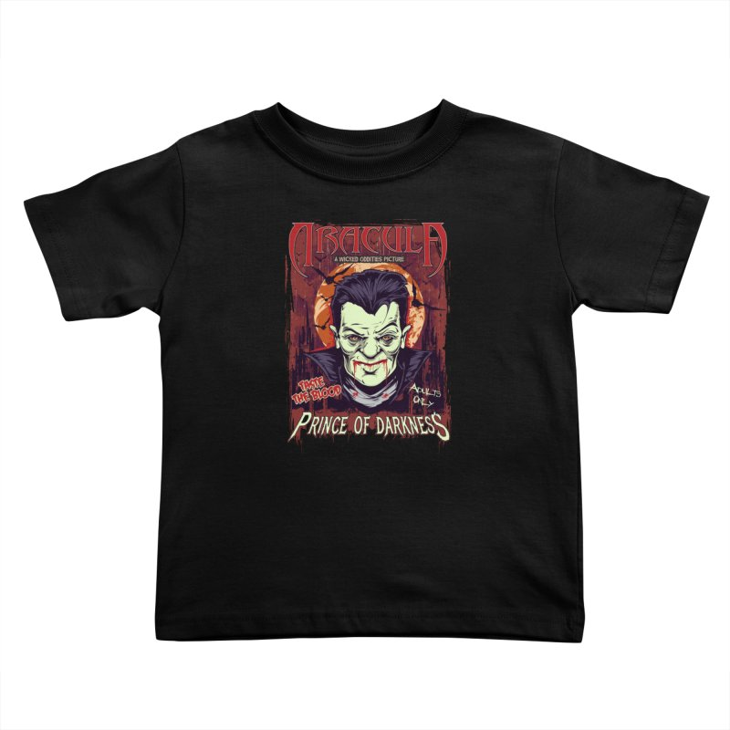 Prince Of Darkness Kids Toddler T-Shirt by Wicked Oddities
