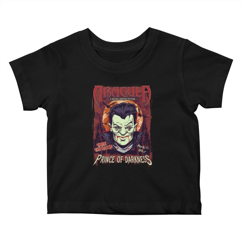 Prince Of Darkness Kids Baby T-Shirt by Wicked Oddities