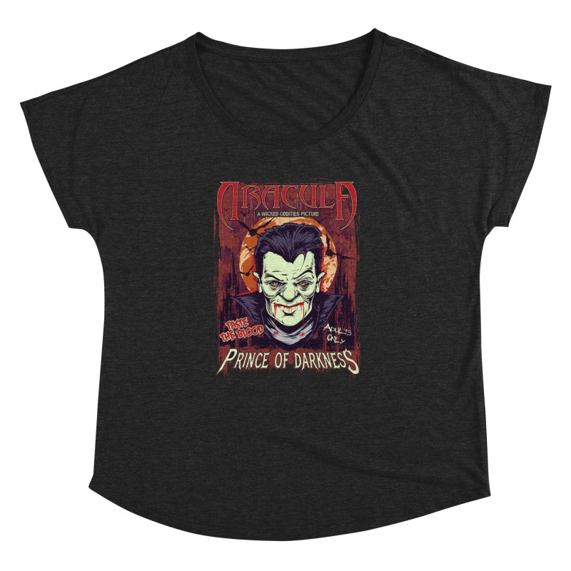Prince Of Darkness Women's Dolman Scoop Neck by Wicked Oddities