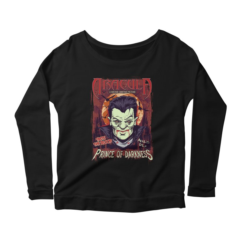 Prince Of Darkness Women's Scoop Neck Longsleeve T-Shirt by Wicked Oddities