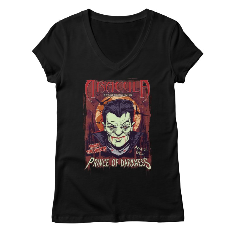 Prince Of Darkness Women's Regular V-Neck by Wicked Oddities