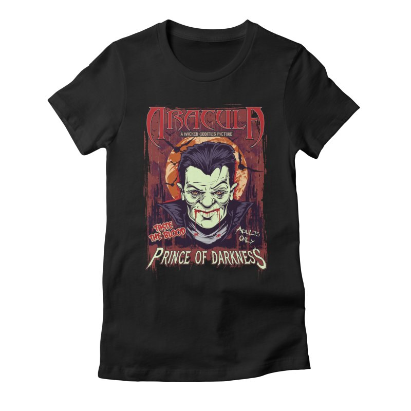 Prince Of Darkness Women's Fitted T-Shirt by Wicked Oddities