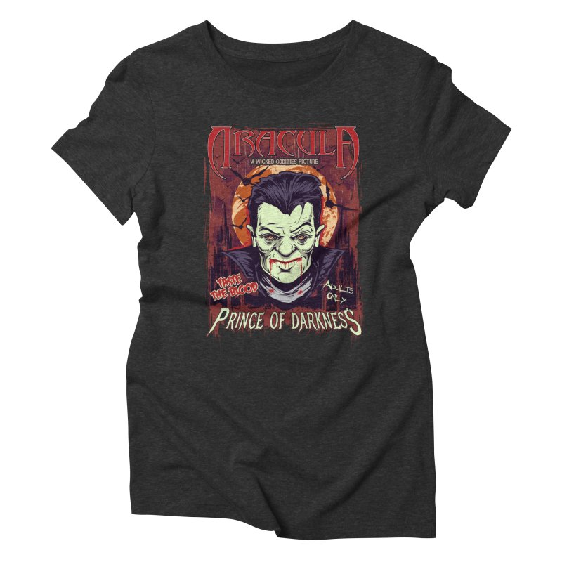Prince Of Darkness Women's Triblend T-Shirt by Wicked Oddities