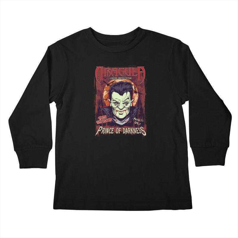 Prince Of Darkness Kids Longsleeve T-Shirt by Wicked Oddities