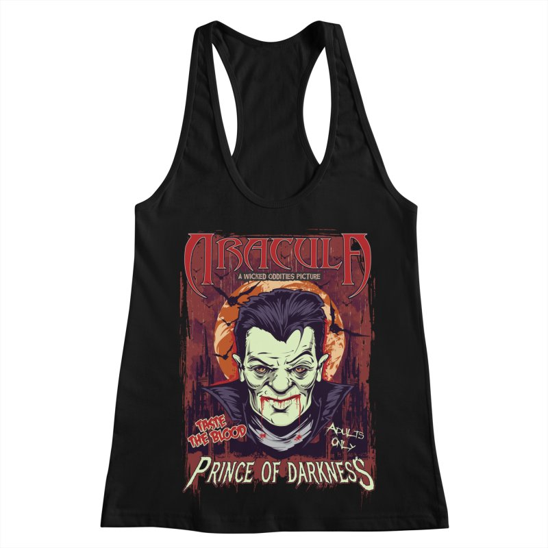 Prince Of Darkness Women's Racerback Tank by Wicked Oddities