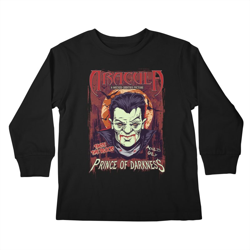 Prince Of Darkness Kids Longsleeve T-Shirt by Wicked Oddities
