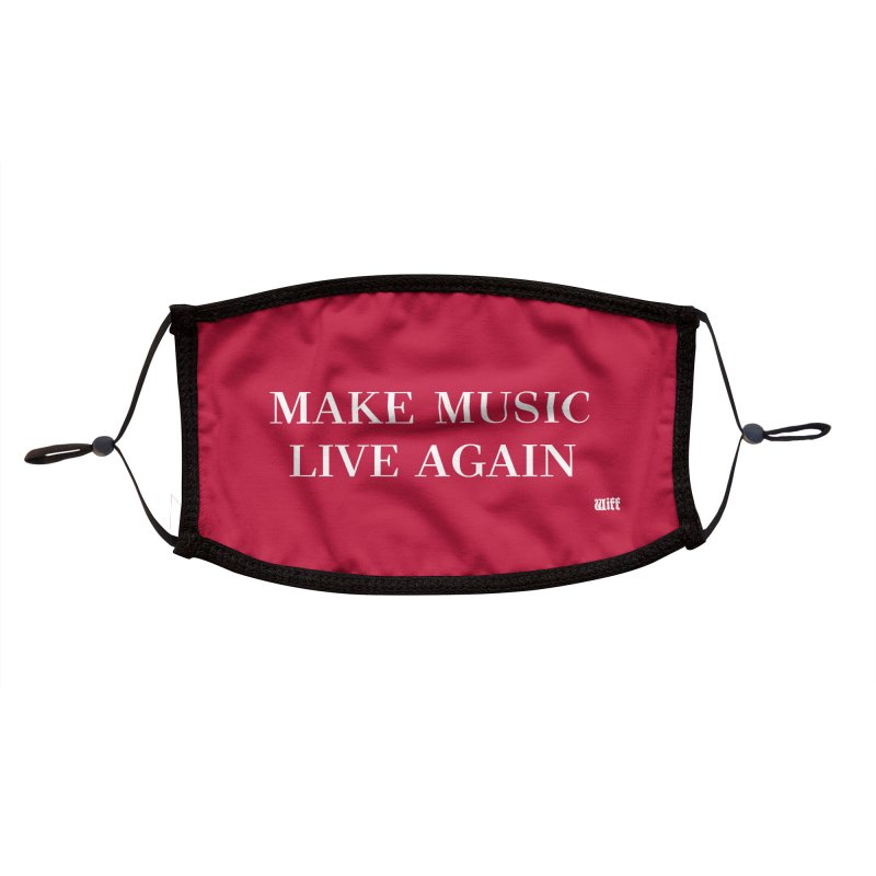 Make Music Live Again mask Accessories Face Mask by Wiff Merch Store