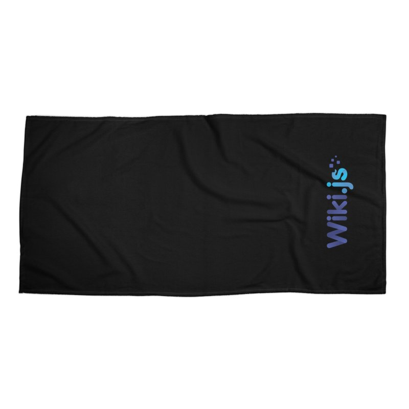 Wiki.js Logo Accessories Beach Towel by Wiki.js Shop