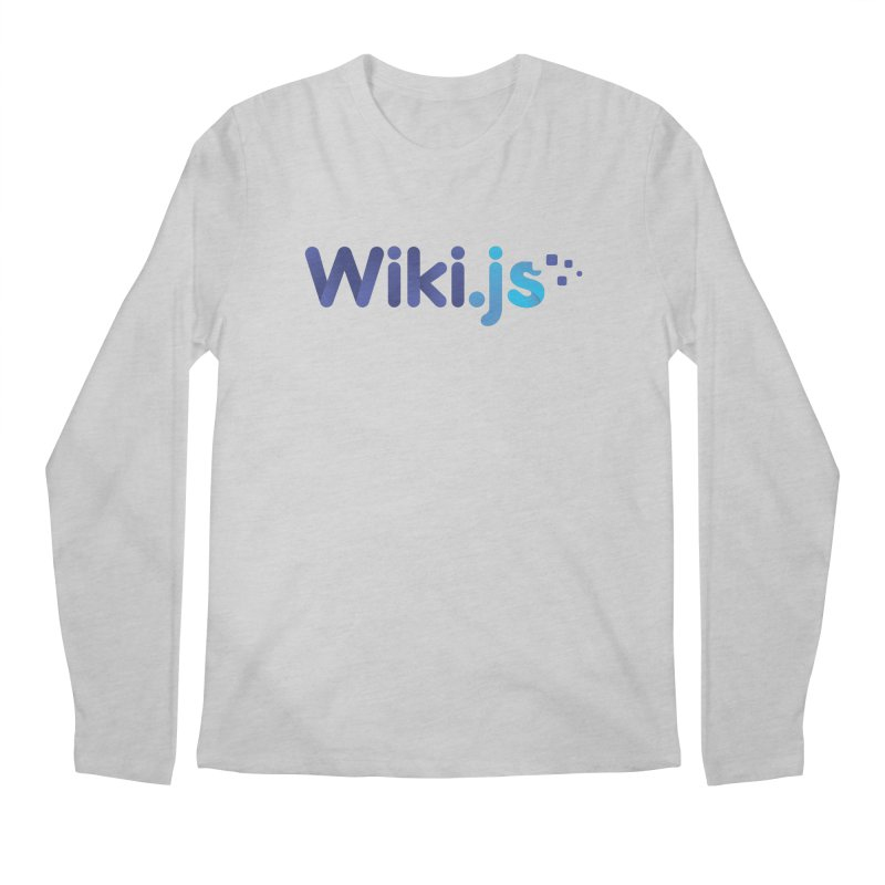 Wiki.js Logo Men's Longsleeve T-Shirt by Wiki.js Shop