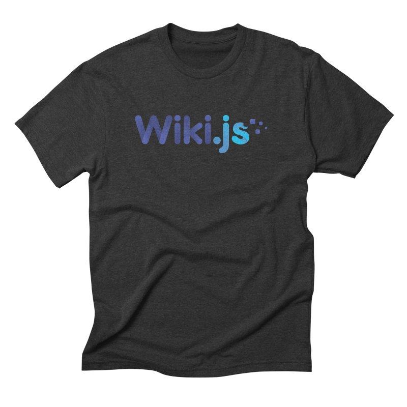 Wiki.js Logo in Men's Triblend T-Shirt Heather Onyx by Wiki.js Shop