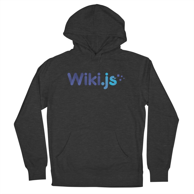 Wiki.js Logo in Men's French Terry Pullover Hoody Smoke by Wiki.js Shop