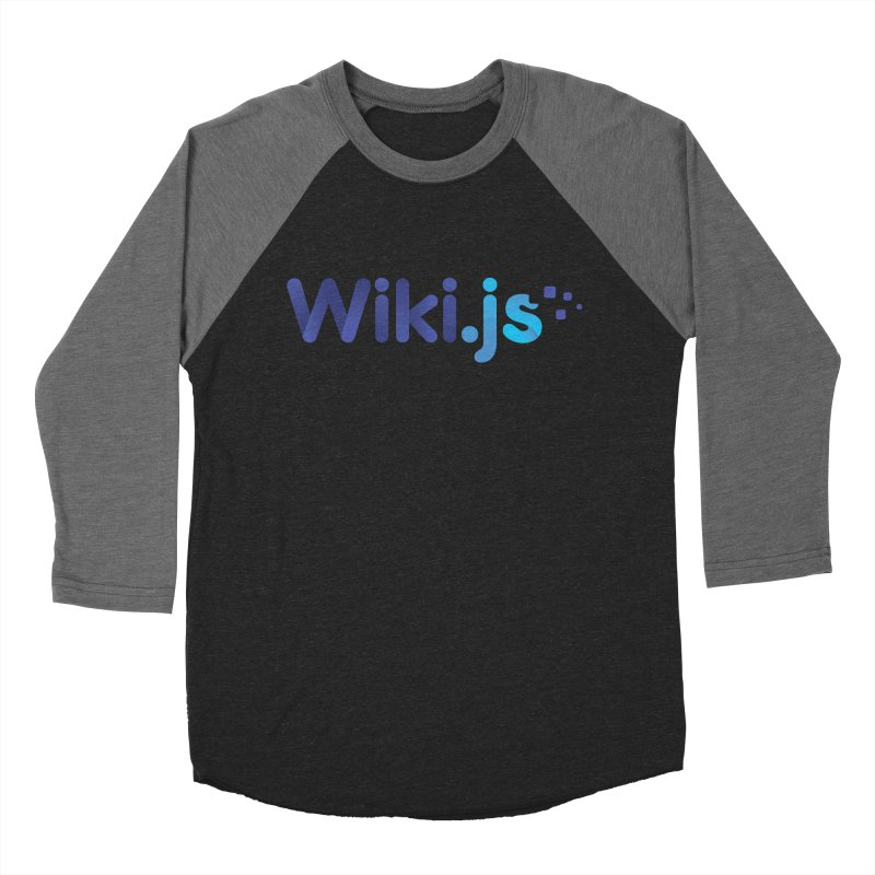 Wiki.js Logo in Men's Baseball Triblend Longsleeve T-Shirt Grey Triblend Sleeves by Wiki.js Shop