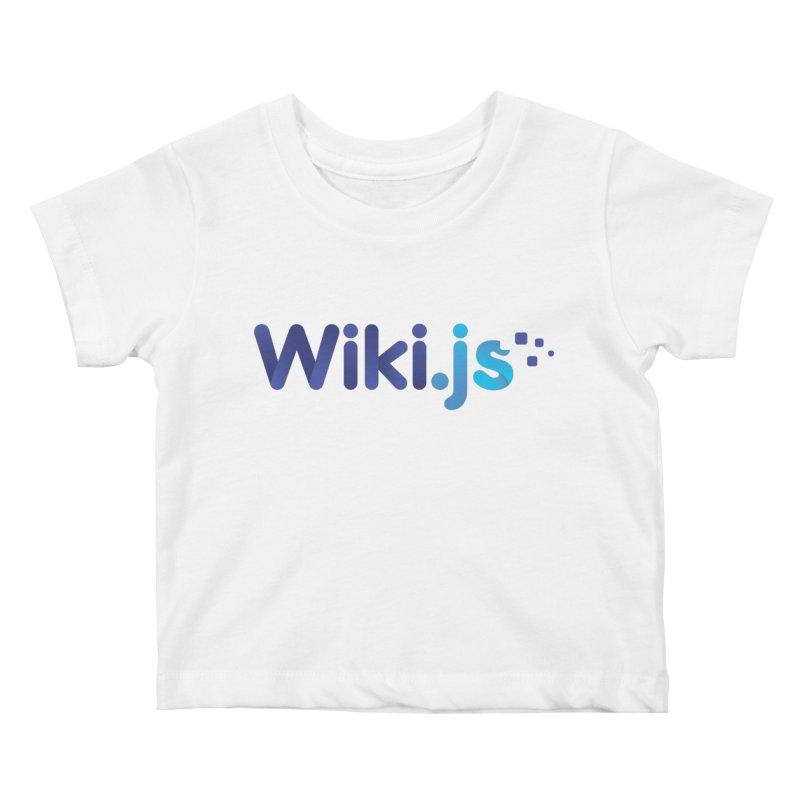 Wiki.js Logo Kids Baby T-Shirt by Wiki.js Shop