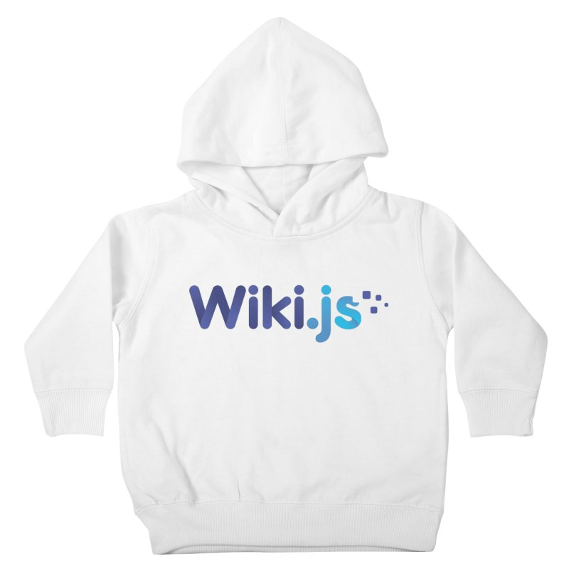 Wiki.js Logo Kids Toddler Pullover Hoody by Wiki.js Shop