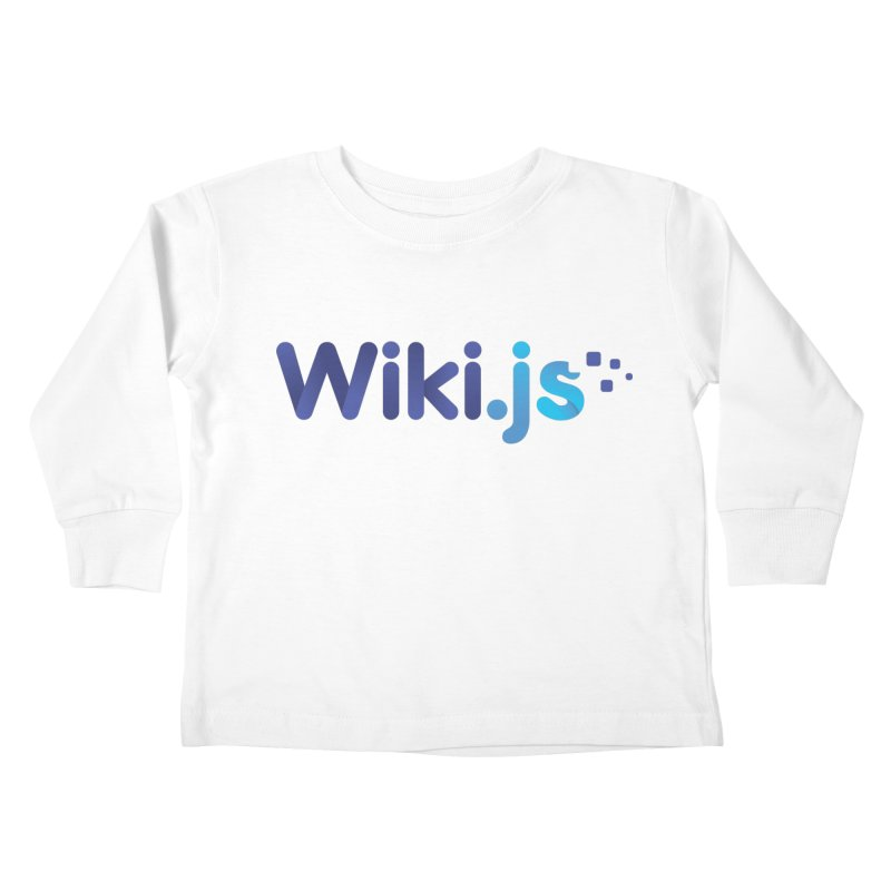 Wiki.js Logo Kids Toddler Longsleeve T-Shirt by Wiki.js Shop