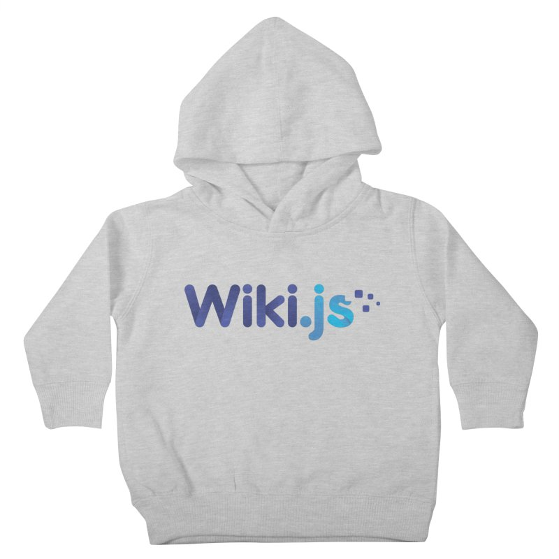 Wiki.js Logo in Kids Toddler Pullover Hoody Heather Grey by Wiki.js Shop