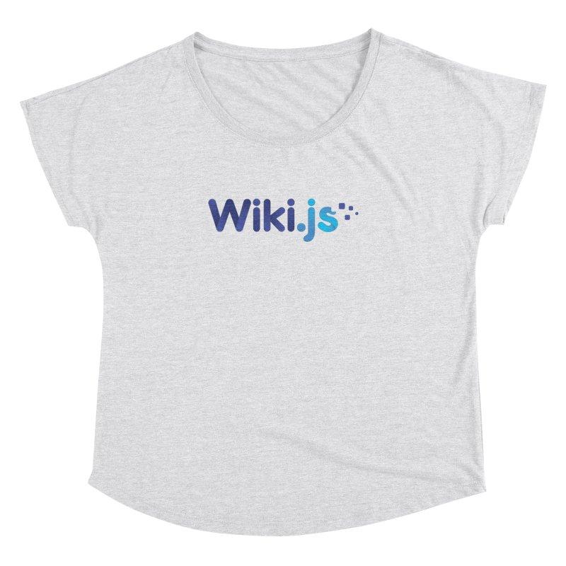 Wiki.js Logo Women's Dolman Scoop Neck by Wiki.js Shop