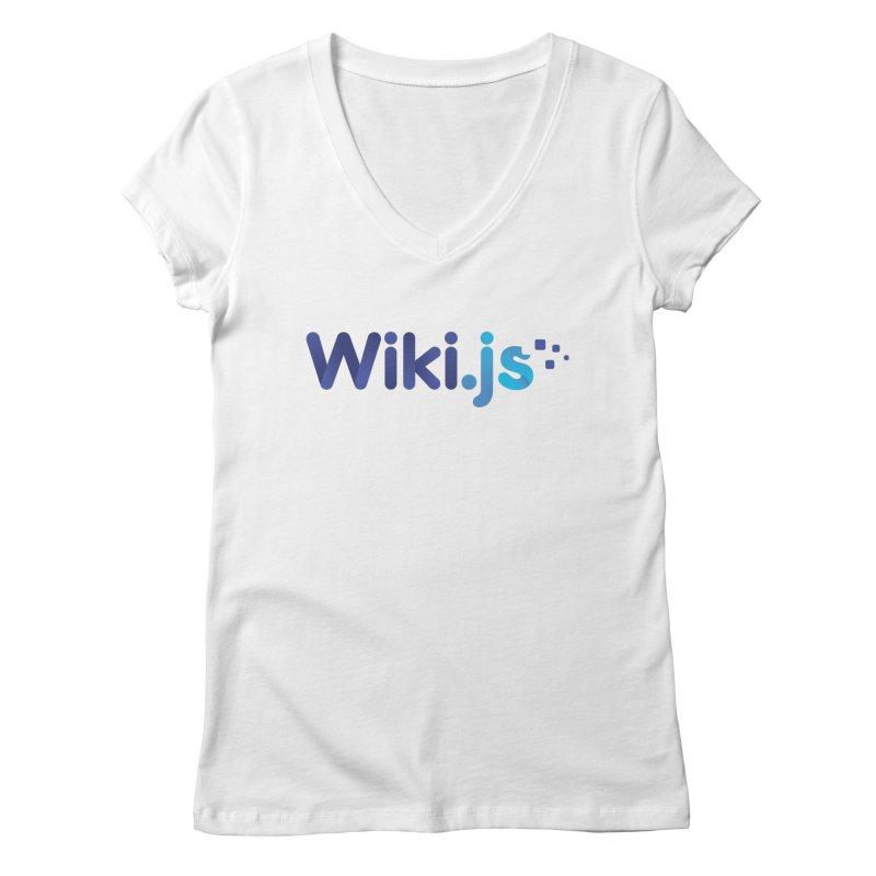 Wiki.js Logo Women's V-Neck by Wiki.js Shop