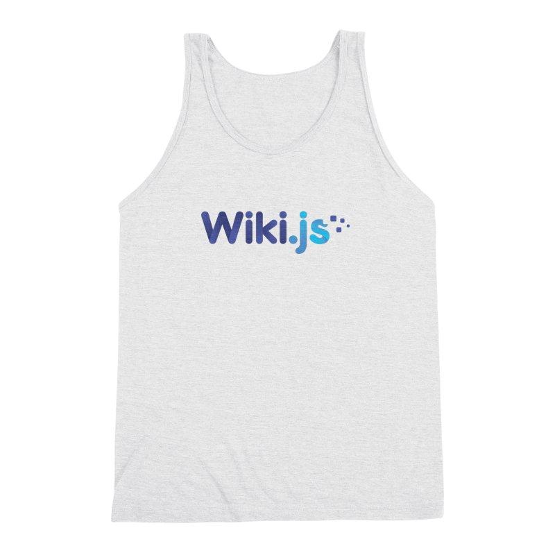 Wiki.js Logo in Men's Triblend Tank Heather White by Wiki.js Shop