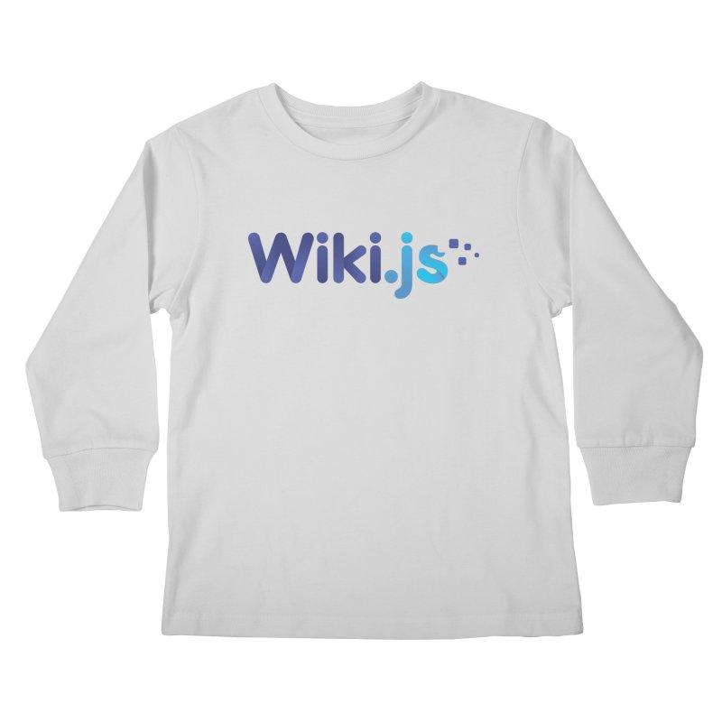 Wiki.js Logo Kids Longsleeve T-Shirt by Wiki.js Shop