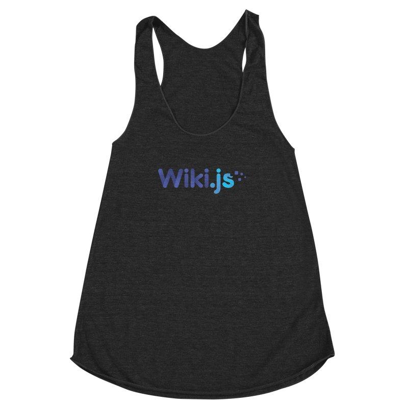 Wiki.js Logo Women's Racerback Triblend Tank by Wiki.js Shop
