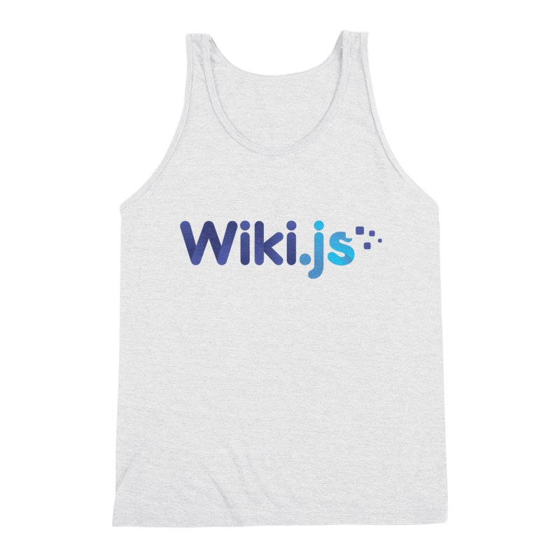 Wiki.js Logo in Men's Triblend Tank Heather White by Wiki.js Shop