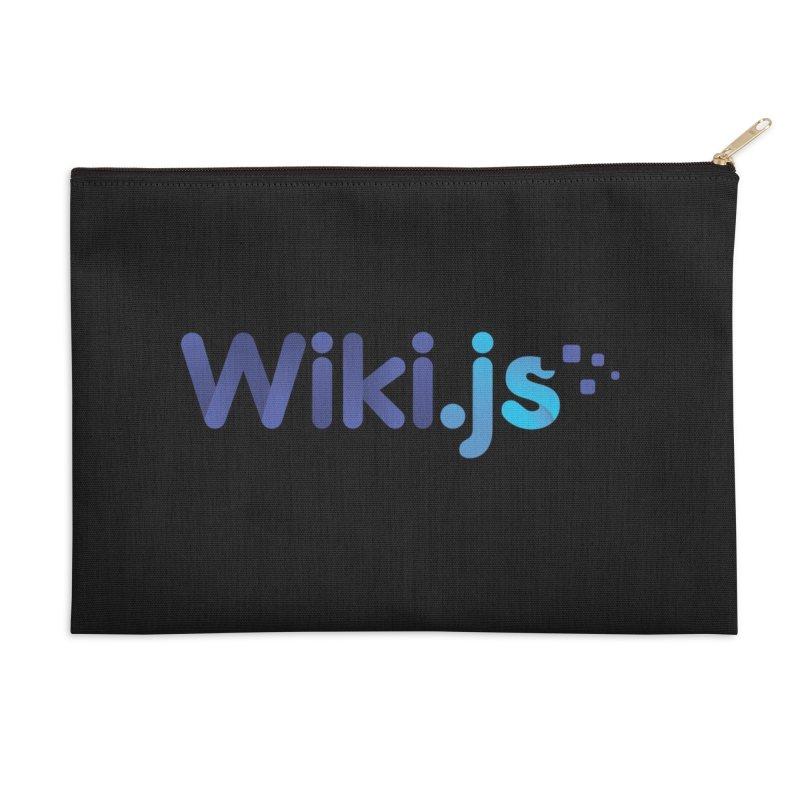 Wiki.js Logo Accessories Zip Pouch by Wiki.js Shop