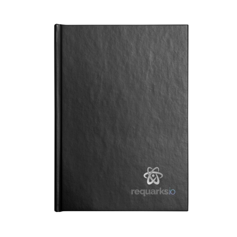 requarks.io Logo Accessories Lined Journal Notebook by Wiki.js Shop
