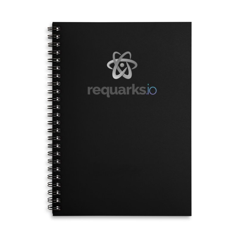 requarks.io Logo Accessories Lined Spiral Notebook by Wiki.js Shop