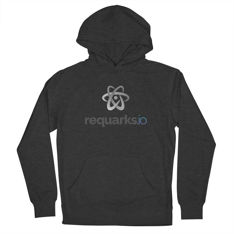 requarks.io Logo in Men's French Terry Pullover Hoody Smoke by Wiki.js Shop