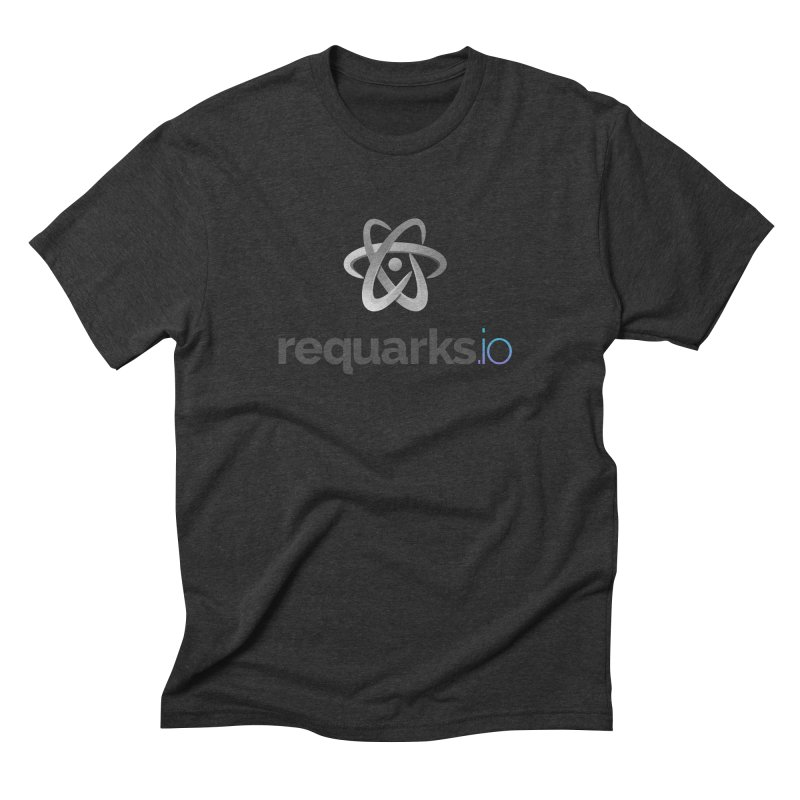 requarks.io Logo in Men's Triblend T-Shirt Heather Onyx by Wiki.js Shop