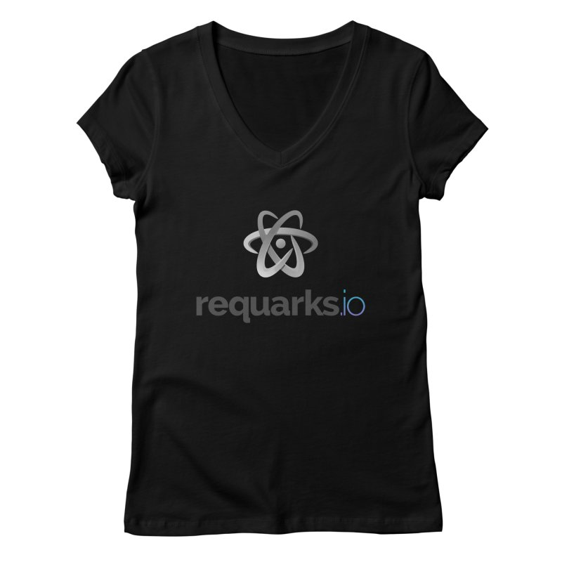 requarks.io Logo Women's V-Neck by Wiki.js Shop