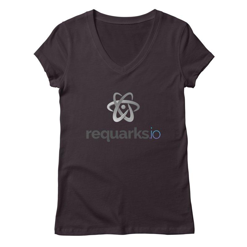requarks.io Logo Women's Regular V-Neck by Wiki.js Shop