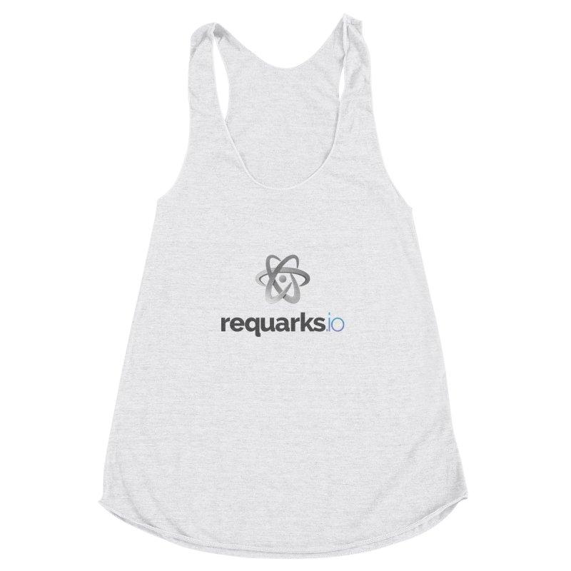requarks.io Logo Women's Racerback Triblend Tank by Wiki.js Shop