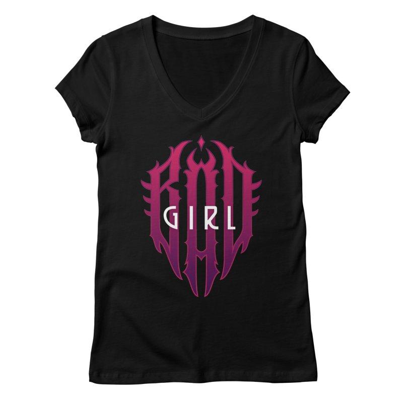 Bad girl Women's Regular V-Neck by ARES SHOP