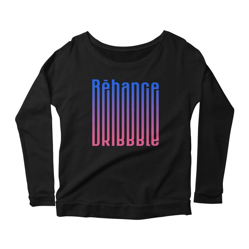 Behance dribbble Women's Scoop Neck Longsleeve T-Shirt by ARES SHOP