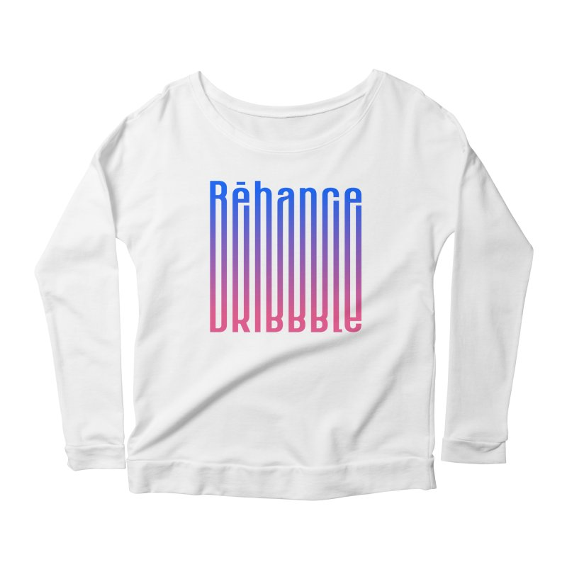 Behance dribbble Women's Scoop Neck Longsleeve T-Shirt by ARES SHOP