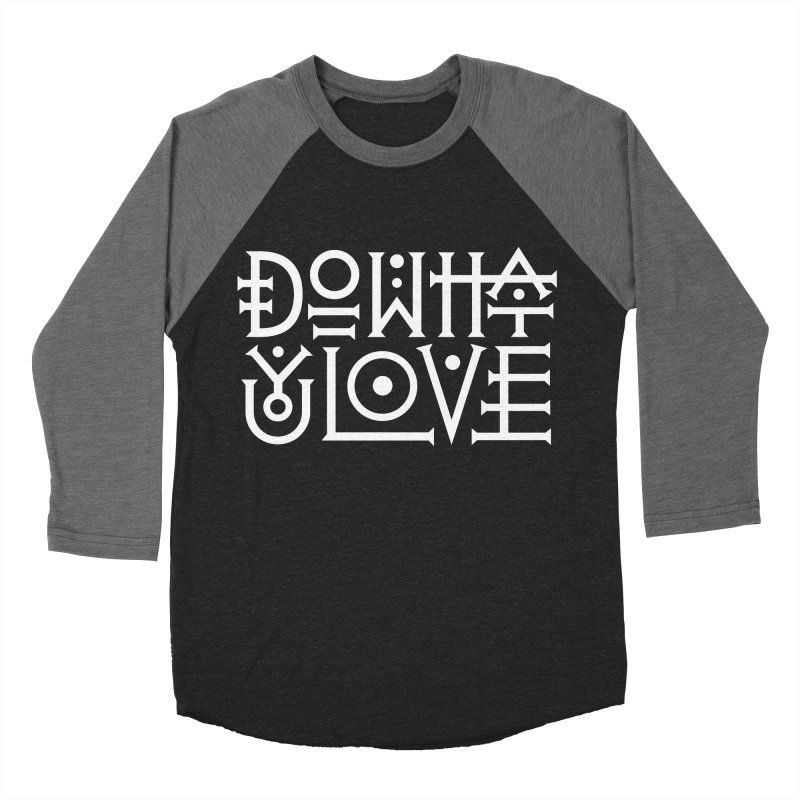 Do what you love Women's Baseball Triblend Longsleeve T-Shirt by ARES SHOP