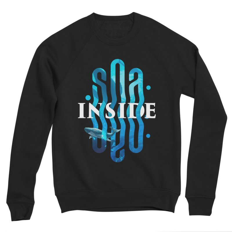 Sea inside Men's Sponge Fleece Sweatshirt by ARES SHOP