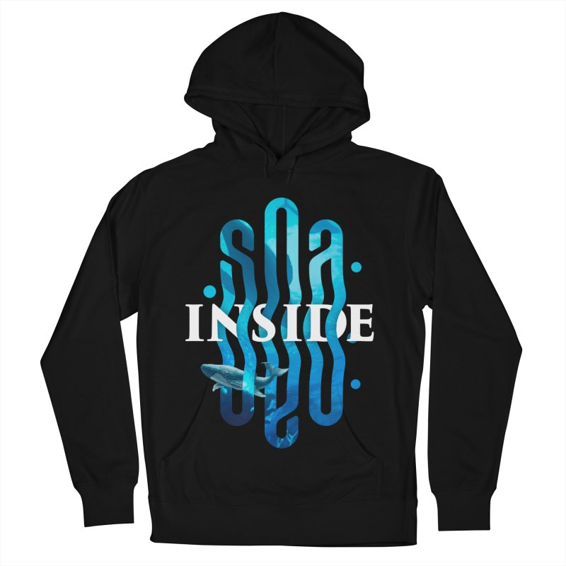 Sea inside Women's French Terry Pullover Hoody by ARES SHOP