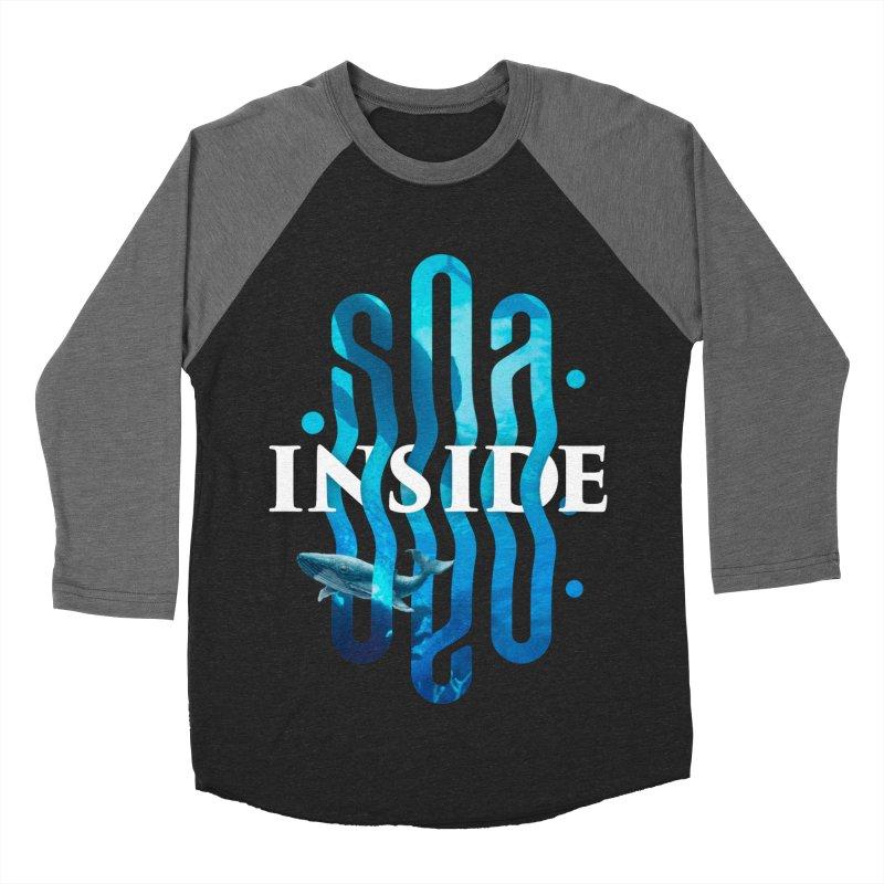 Sea inside Women's Baseball Triblend Longsleeve T-Shirt by ARES SHOP
