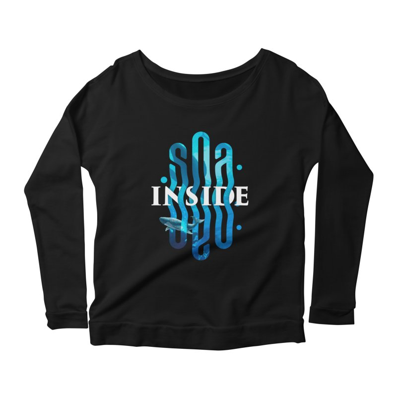 Sea inside Women's Scoop Neck Longsleeve T-Shirt by ARES SHOP