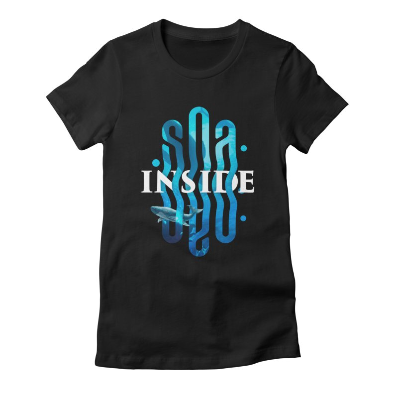 Sea inside Women's Fitted T-Shirt by ARES SHOP