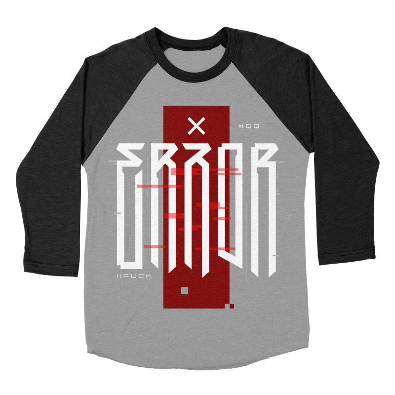 Error Women's Baseball Triblend Longsleeve T-Shirt by ARES SHOP