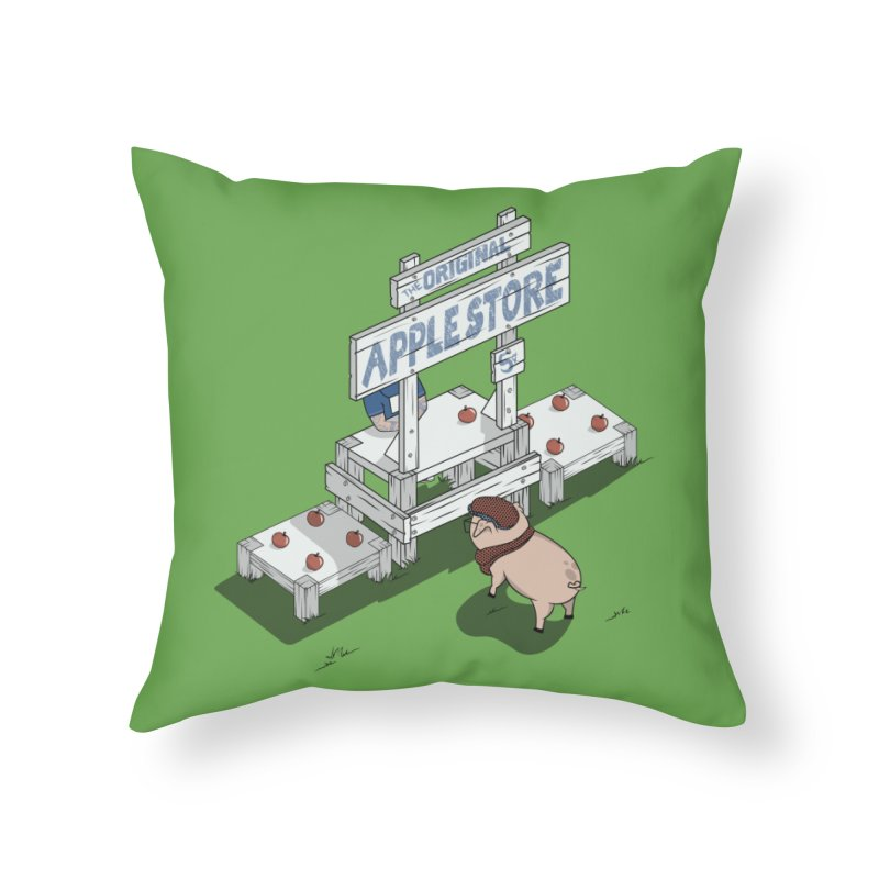 The Original Apple Store Home Throw Pillow by wilbury tees